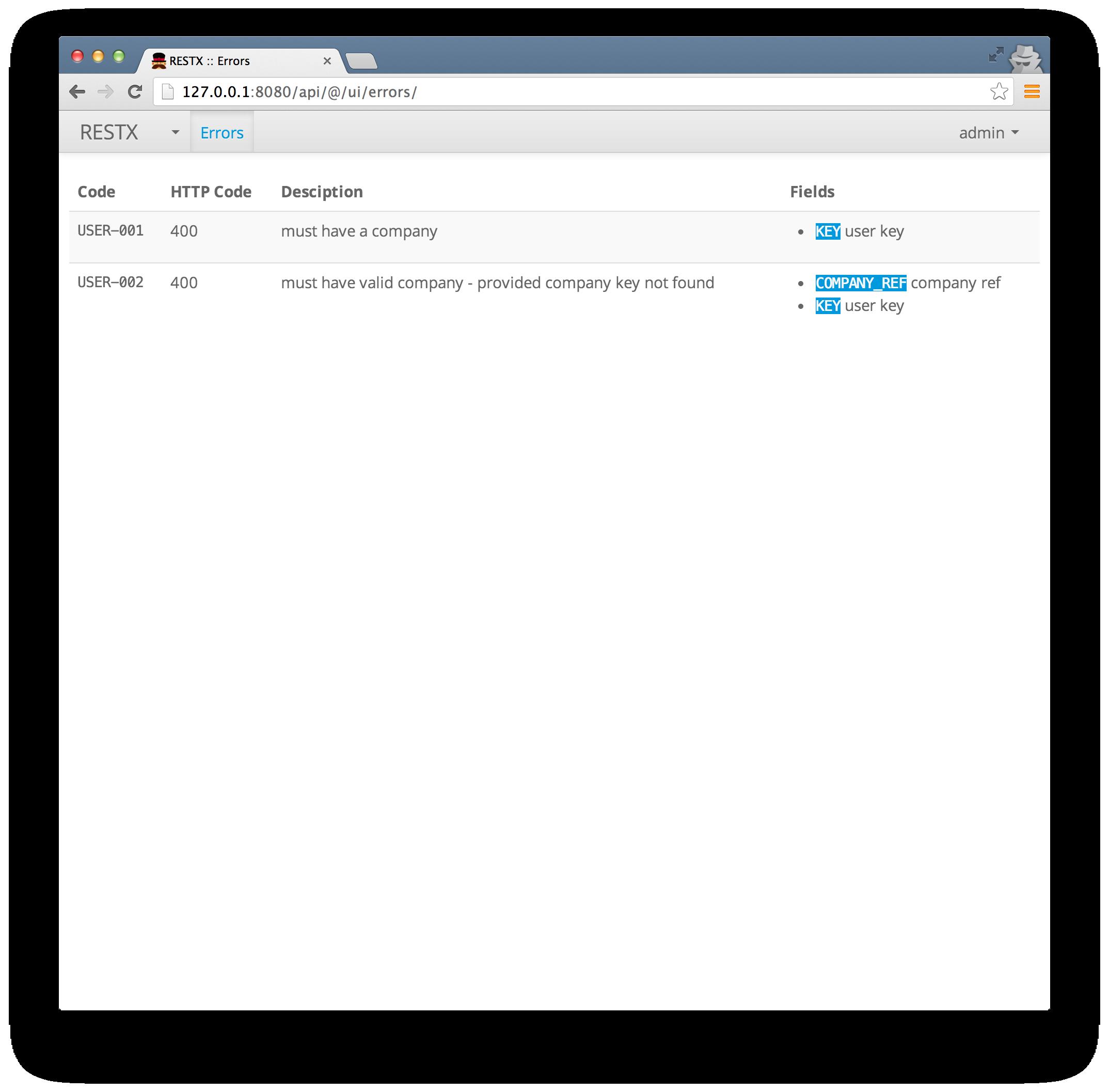 Error Management ~ RESTX, the lightweight Java REST framework
