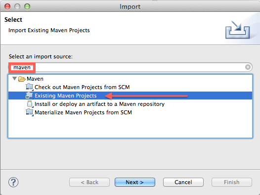 import existing maven project into eclipse