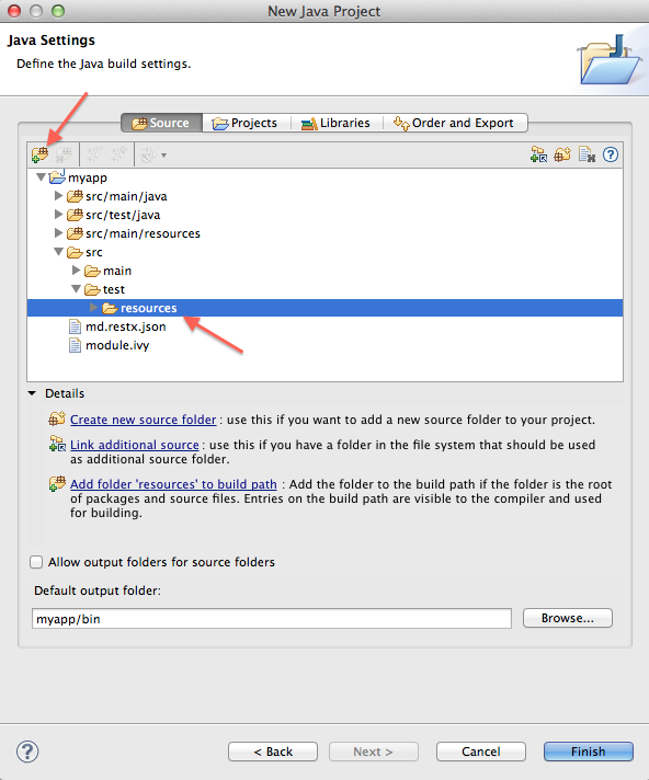 Configure RESTX project source folders in Eclipse