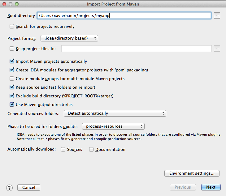 import existing maven project into Intellij IDEA