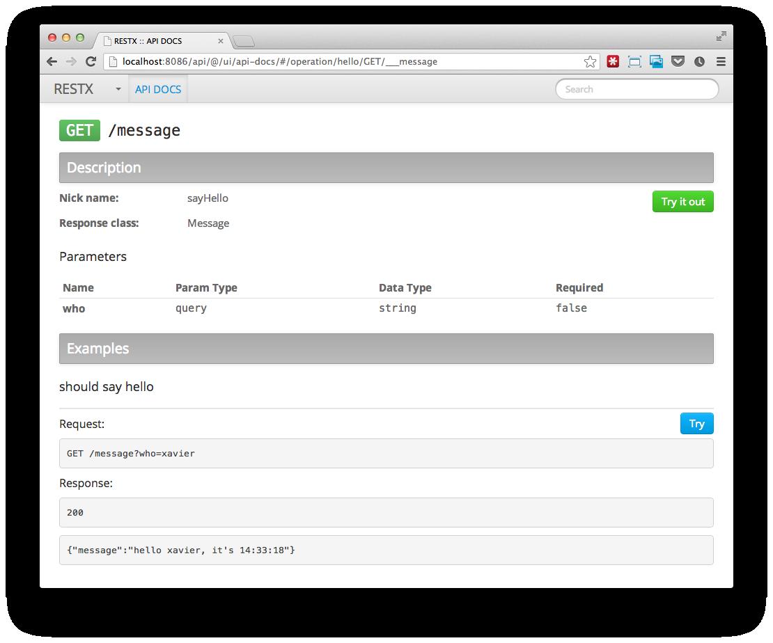 rest api documentation template - restx the lightweight java rest framework
